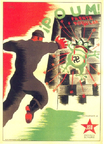 Affiche, Mai 1937, JSU Madrid, Frente Popular POUM