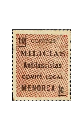 Timbre, 1936, Menorca, Milices antifascistes