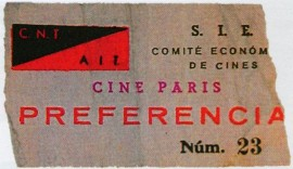 Billet, 1936, ciné Paris Barcelone