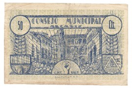 Billet, 1937, collectivité Alcaniz CNT UGT