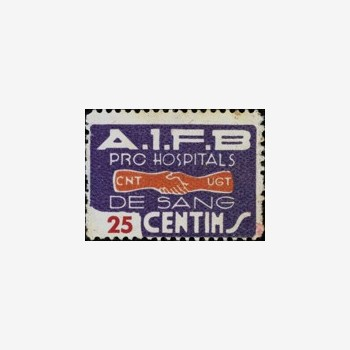 Timbre, 1938, AIFB, Boulangers CNT UGT Barcelone