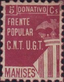Timbre, CNT UGT Manises, front populaire