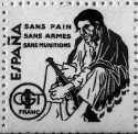 Timbre, France, CGT, Sans pain sans armes sans munitions