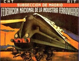 Affiche, Iturzaeta, CNT AIT, fédération des transports section de Madrid